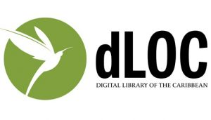 Digital Library of the Caribbean logo with white bird over green background